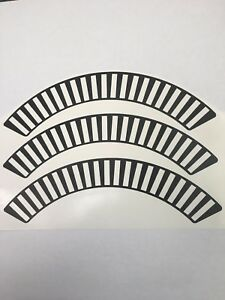 1958 Chevy Hub Cap Wheel Cover Decal Set - Impala, Bel Air - 14 pieces total!!