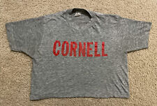 New listing Vintage Cornell University Crop Top Shirt Gray Spellout Big Red Men's Large Rare