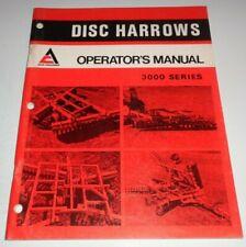 Allis Chalmers 3000 Series Disc Disk Harrow Operators Owner Manual AC Original!