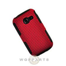 Samsung R480 Freeform 5 Hybrid Mesh Case Red/Black Shell Protector Guard Shield