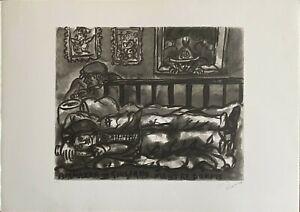 TONO ZANCANARO litografia ammazza Giuliano mentre dorme 70x50 firmata numerata