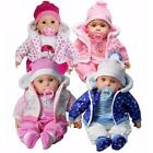 """20"""" Lifelike Bibi Baby Doll Girls Boys Soft Bodied Toy Sounds OR 2 Clothes Sets"""
