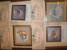 LOT of CROSS STITCH KIT - ANGEL OF SUMMER, SPRING, WINTER and AUTUMN by L & L
