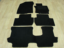 Mitsubishi Outlander Man 7 Seater  2013-on Tailored RUBBER Car Mats in Black.