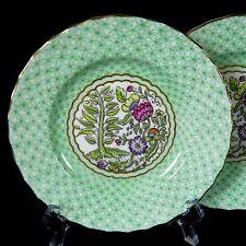 Pair of Royal Worcester Pomander Bread Dessert Plates 2109