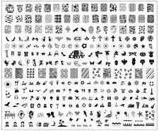 MEGA XXL Stamping Platte H über 250 Motive US Nails Arena USN