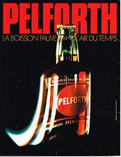PUBLICITE ADVERTISING 054  1972  PELFORTH   bière brune de France