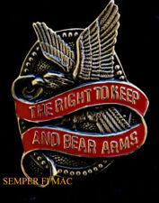RIGHT TO KEEP & BEAR ARMS PIN rifle US ARMY NAVY AIR FORCE MARINES 2nd Amendment