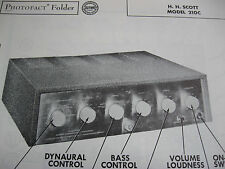 H.H. SCOTT 210-C AMPLIFIER AMP PHOTOFACT