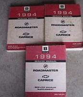 1994 BUICK ROADMASTER CHEVY CAPRICE Service Repair Shop Manual SET WITH SUPPLEME