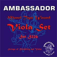 More details for ambassador viola string set s226 - made in the uk - priced to clear