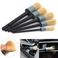 5X Auto Car Detailing Brushes Plastic Handle for Interior Gap Rims Wheels Aircon