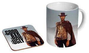 Clint Eastwood The Good The Bad Ugly - Coffee / Tea Mug And Coaster Gift Set