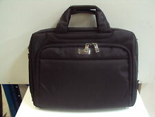 NEW DELUXE COMPUTER LAPTOP PORTFOLIO NOTEBOOK  BAG / CASE BLACK