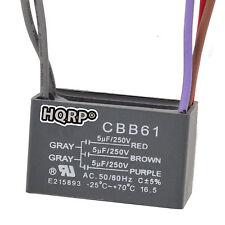 HQRP Capacitor para Harbor Breeze 5uf+5uf+5uf, 5-Alambres / CBB61 Reemplazo