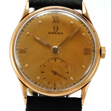 OMEGA ANTIQUE 18K PINK GOLD 32 MM. YEAR 1945. BEAUTIFUL PATINA!!