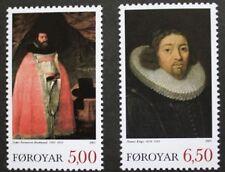 Theologians stamps, Faroe Islands, 2003, SG ref: 459 & 460, 2 stamp set, MNH