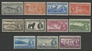 CANADA / NEWFOUNDLAND KGV1 1937 LONG CORONATION SET MINT