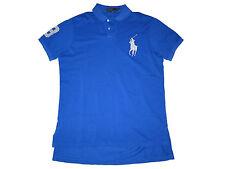 Polo Ralph Lauren Big Pony Royal Blue Silver Custom Shirt Rugby Large L