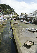 A3 Cornwall Polperro Harbour Photographic Epson Print only (Unframed)