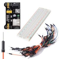 XSD MOEDL DIY Kit MB102 Power Module 3.3V 5V + Breadboard 830 points + 65PC B3M5