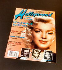 Hollywood Studio Movie Magazine Marilyn Monroe Cover Hollywood Suicides