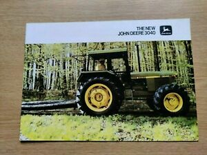 JOHN DEERE TRACTORS THE NEW 3040 SERIES COLOUR FARMING TRACTOR BROCHURE IN VGC