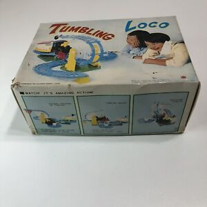 Vintage Spencer Gifts Toys Games Tumbling Loco Train 100% Complete Working Box