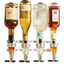 4 Bottle Wall Mounted Holder Wine Liquor Dispenser Alcohol Drink Shot Cabinet