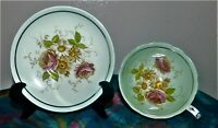 Paragon By Appointment H M the Queen Mary Cup & Saucer Red Rose & Wild Flowers