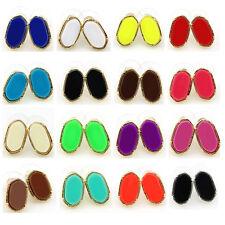 17 Colors Fashion Women Stud Earrings Rainbow Druzy Stud Earrings Women New
