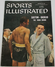 Saxton Basilio 1957 Sports Illustrated No Label 2/25/57 Ex 15484