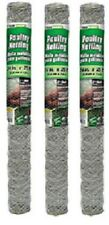 """3 rolls Midwest 308464B 24"""" x 25' 2"""" Poultry Netting Chicken Wire Fence Fencing"""