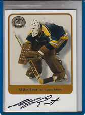 """2001-02 FLEER GREATS OF THE GAME MIKE LIUT  """"BLUES/ WHALERS"""" AUTOGRAPH AUTO"""