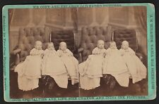 RARE Stereoview Photo Advertising Photographer Hotchkiss Norwich NY 1880 Triplet