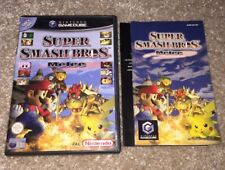NO GAME! Super Smash Bros Melee Box Art Sleeve And Manual Only Nintendo GameCube