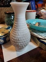 "Hurricane Lamp Chimney / Shade 9 1/2"" T Milk Glass Hobnail Unique Fading Pattern"