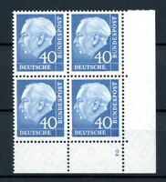 Bund 4er Block MiNr. 260 x v Eckrand ur postfrisch MNH Formnummer 2 (C033