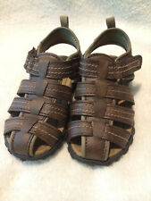 Carters boys leather sandal jupiter-c brown leather size 8 youth worn once