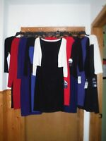 Chaps 3/4 Sleeve Dresses Many Size XL,L,M,XS,16,14,10,PM and Color NWT