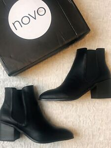 BRAND NEW RRP$90 NOVO ladies SIZE 8 CINDI CHELSEA style ANKLE BOOTS mid heel