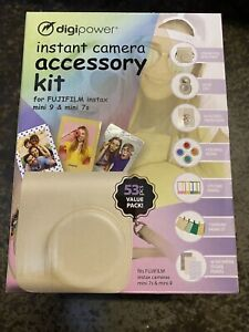 Fujifilm Instax Mini 9 Mini 7S  Digipower Instant Camera Accessory Kit 53 Pieces