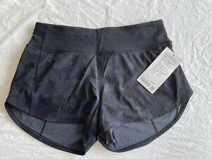 """NWT Lululemon Mid rise speed up 4"""" shorts - Black Camouflage - Size 8"""