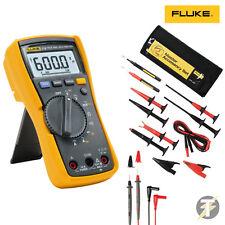 FLUKE 115 true RMS multimetro tlk-225 Master Set di accessori Sonde e clip