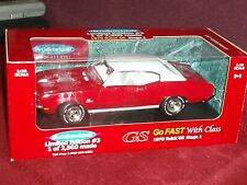 "ERTL 1970 BUICK GS STAGE 1 HARDTOP RED/WHITE 1/18 VHTF 1/2500 ""COLLECTOR'S GUILD"