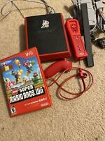 Nintendo Wii Mini Red Console RVL-201, Comes With Controller & Nunchuck, Games