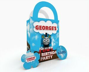 Personalised Thomas the tank engine Party Bag Gift Favour Box Treat Bag