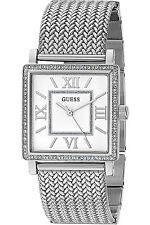 GUESS W0826L1,Ladies Dress,Stainless Steel,Silver-Tone,Crystal Accented Bezel,WR