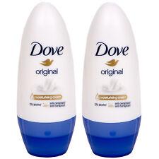 2 x Dove Original Deo Roll on Moisturing Cream 48H anti Transpirant