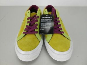 Converse One Star Suede Shoes Color Green And Purple Unisex  161616C